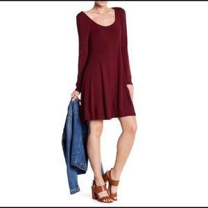 Lush Long Sleeve Swing Dress